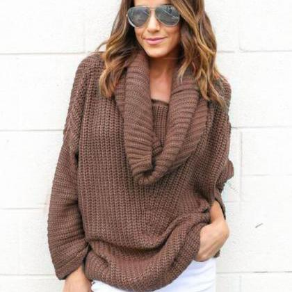 FREE SHIPPING Turtleneck Knitted Sw..