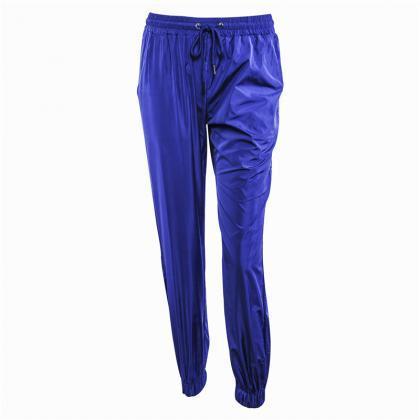 Blue Casual Drawstring Joggers, Swe..
