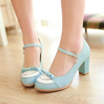 FREE SHIPPING Cute Pastel Blue Bow ..