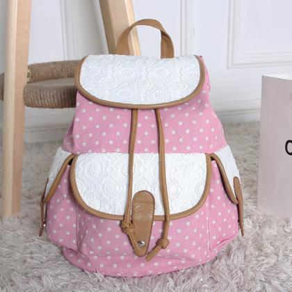 FREE SHIPPING Pastel Pink Dot and L..