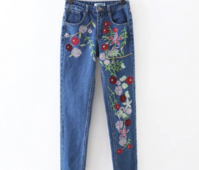 Floral Embroidered M..