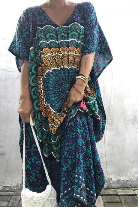 Ethnic Boho Prints Maxi Dress
