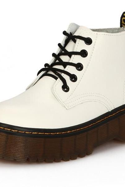 FREE SHIPPING Fall/ Winter 2016 White Martin Boots