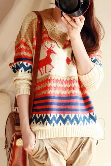 FREE SHIPPING Cute Deer Sweater