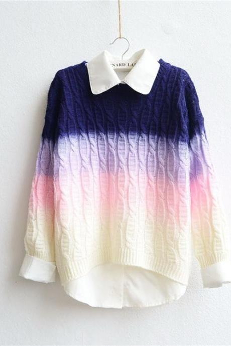 FREE SHIPPING Harajuku Gradient Sweater
