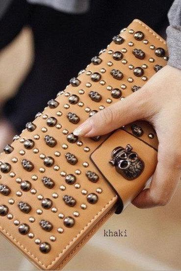 FREE SHIPPING Fall/ Winter 2016 Studded Pochette Purse