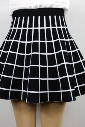 FREE SHIPPING 2015 Fall/Winter High Waisted Plaid Skirt