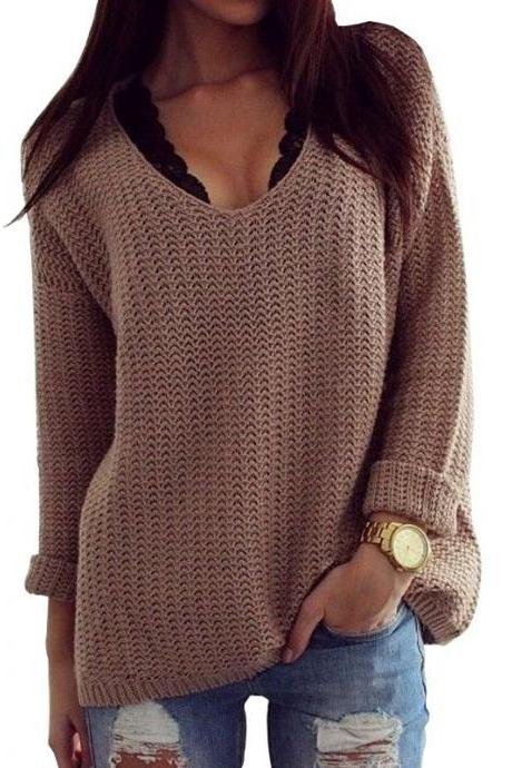 FREE SHIPPING Basic Long Sleeve Sweater