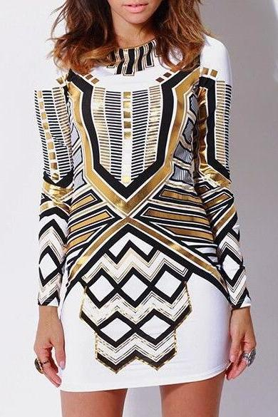 FAST SHIPPING New Fashion Women Backless Long Sleeve Slim Dress Sexy Bodycon Evening Dress