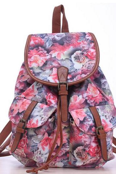 FAST SHIPPING New Vintage Floral Printed Backpack