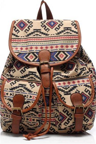 FAST SHIPPING New Vintage Boho Tribal Printed Backpack