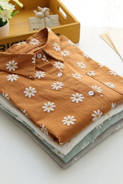 FAST SHIPPING Retro Floral Blouse