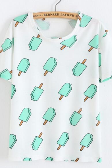 FAST SHIPPING New Harajuku Ice-lolly Printed Summer T-shirt