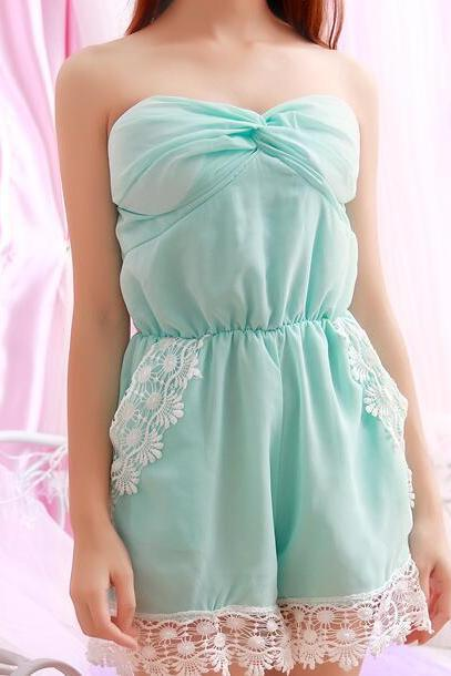 FAST SHIPPING 2016 New Fashion Women's Summer Candy Color Sleeveless Romper Playsuit