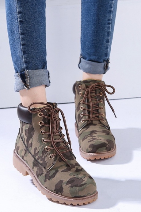Military Style Ankle Boots