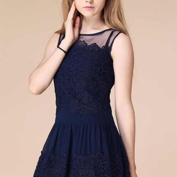 Embroidered Elegant Party Dress
