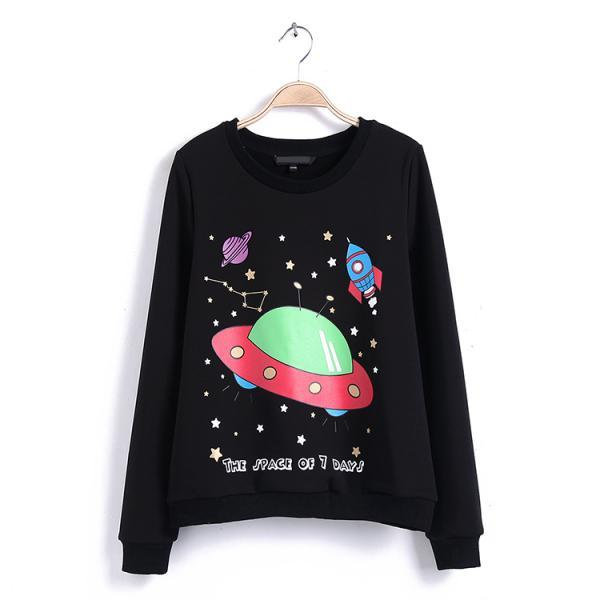 FREE SHIPPING Harajuku Space Printed Sweater Sweatshirt