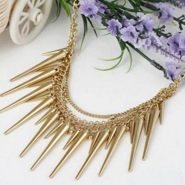 FAST SHIPPING New Gole Plated Multi-chain Chunky Necklace