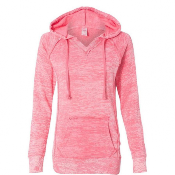 Fall Winter Fashion Pink Pocket Front Hoodie Sweatshirt Sweater